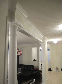 Images Picture Gallery Crown Moulding Work Installtion
