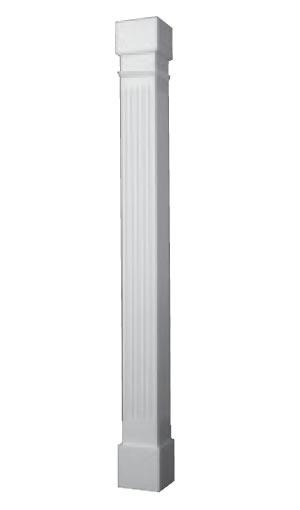 Exterior Architectural Fibeglass Support Columns Wood