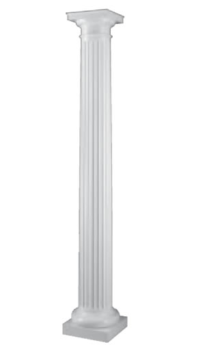 Exterior Architectural Fibeglass Support Columns Wood