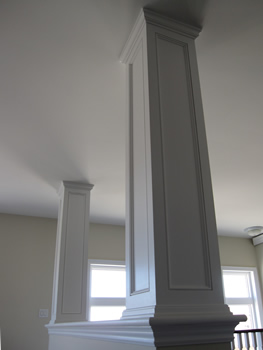 Images picture gallery crown moulding work installtion Crown columns